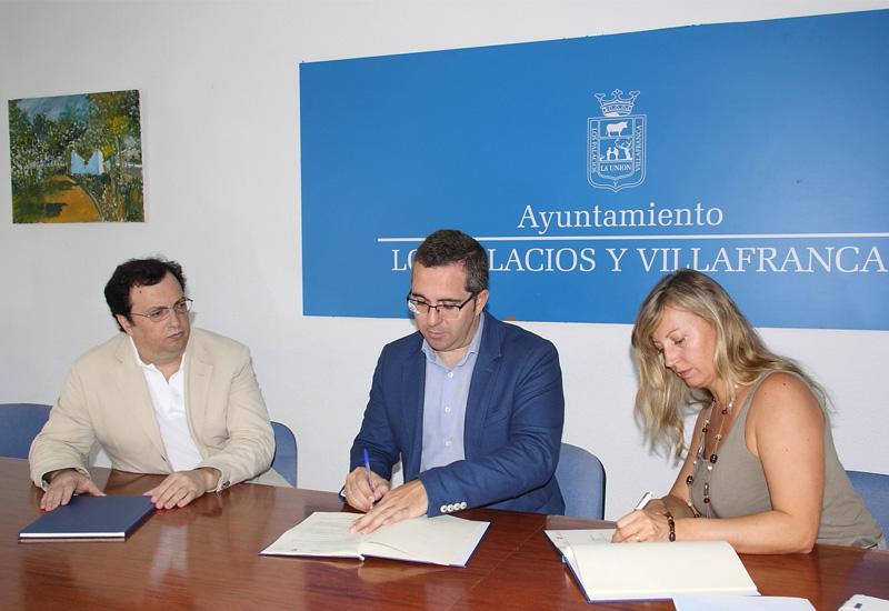 Convenio de colaboración entre el Ayuntamiento palaciego y la Asociación Mediart-te