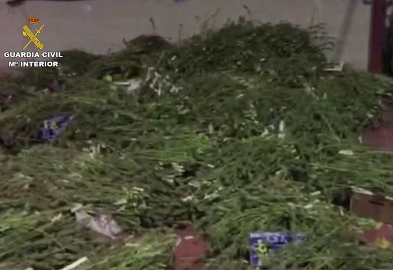 Intervenidos en Los Molares más de 2.500 kilos de marihuana en una operación con dos detenidos