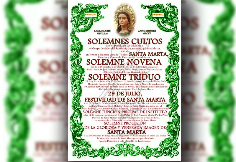 Todo preparado para los cultos en honor a Santa Marta de Los Molares