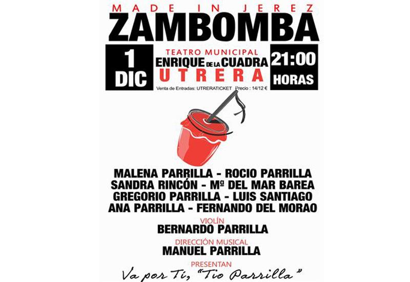 ZAMBOMBA JEREZANA PARA ABRIR LA NAVIDAD EN EL TEATRO MUNICIPAL ENRIQUE DE LA CUADRA DE UTRERA