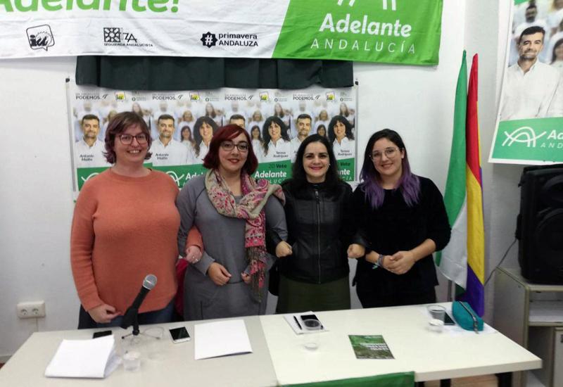 "ADELANTE ANDALUCÍA PRESENTÓ EL ACTO ""FEMINISMO PARA SER FELICES"" EN UTRERA"