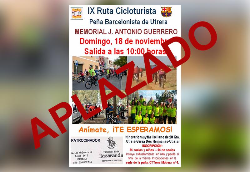APLAZADO: Este domingo la Peña Barcelonista de Utrera celebra la Ruta Cicloturista