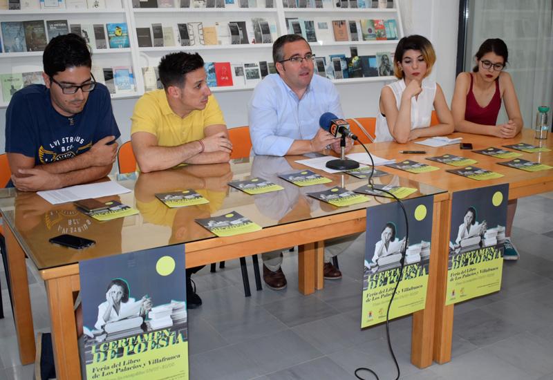 """EL AYUNTAMIENTO CONVOCA EL I CERTAMEN DE POESÍA """"FERIA DEL LIBRO DE LOS PALACIOS Y VILLAFRANCA"""""""